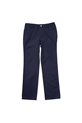 French Toast Big Girls' Straight Leg Pant, Navy, 12