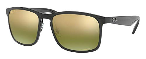 Ray-Ban RB4264 876/6O 58M Shiny Grey/Green MIrror Gold Polarized Sunglasses For Men For Women (Ray Ban Brille Für Herren)