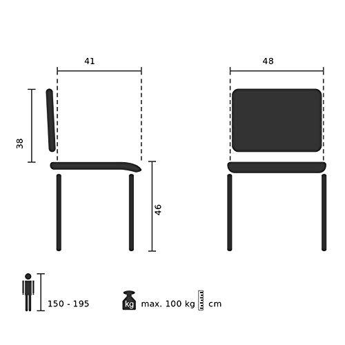 Hjh OFFICE 704500 4er Set Besucherstuhl XT 600 Stoff-Bezug Schwarz Schwarz Schwarz Konferenzstuhl gepolstert, stapelbar B079HW9X8P | Viele Stile  03e775