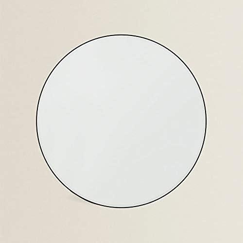 シンプルな黒フレームラウンドミラー浴室壁掛け化粧鏡化粧鏡化粧鏡全身鏡壁掛けミラードアミラーラウンド高品質浴室鏡64 * 64 * 2.5 cm
