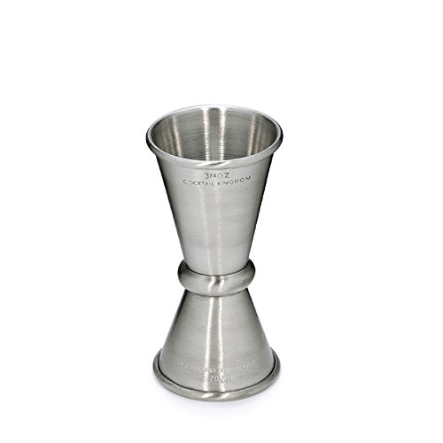Cocktail Kingdom Japanese Style Jigger 3/4 oz and 1/2 oz measure - Stainless Steel
