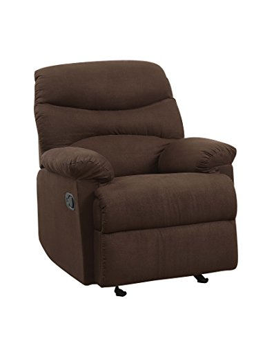 ACME Arcadia Chocolate Microfiber Recliner ()
