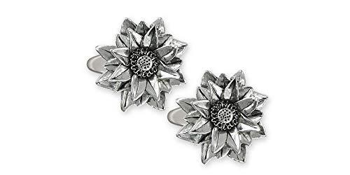 Lotus Cufflinks Jewelry Sterling Silver Handmade Lotus Cufflinks LOT2-CL