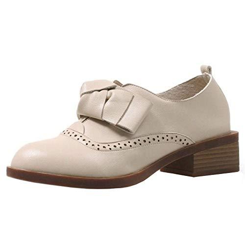 Taoffen Détente Automne Femmes Chaussures Beige xCH7qB