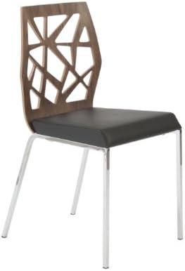 Amazon.com: Eurostyle Sophia polipiel lado silla W/Base de ...