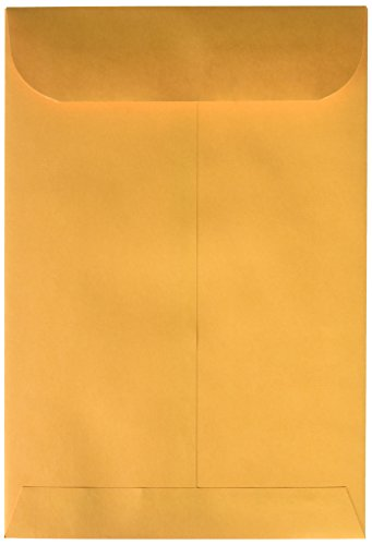 Quality Park Heavyweight Catalog Envelopes, Gummed, Brown Kraft, 6.5 x 9.5, 500 per Box, (40865)