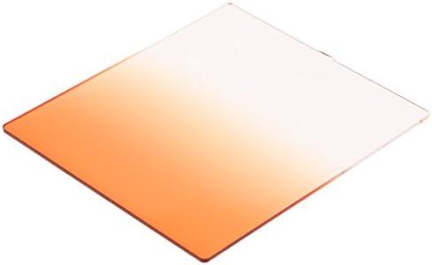 NDフィルタ グラデーション ニュートラル フィルター 勾配レンズ 正方形 全6色 中性濃度 - グラデーションオレンジ
