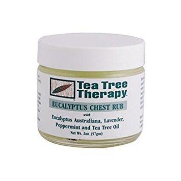 ( Tea Tree Therapy - Chest Rub, Eucalyptus 2 Oz ( 2-Pack))