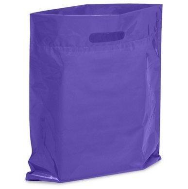 Knitted Plastic Bag (100 Purple Merchandise Bags 12x15