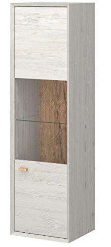 hängevitrine hängeelement hängeschrank vitrine wohnzimmer weiß