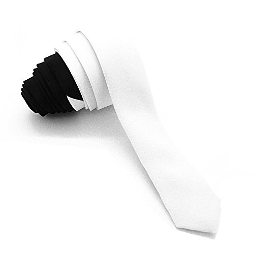 Cravate Ultra Slim Bicolore Noire et Blanche 3cm