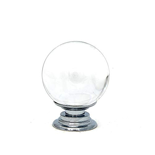 Clear Round Crystal Glass Knob 1.5