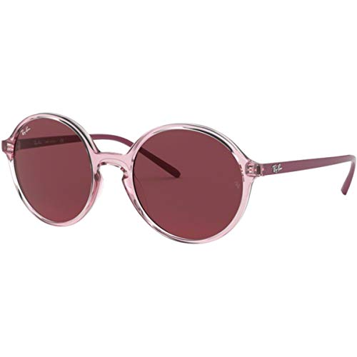 Ray-Ban Women's Youngster Round Sunglasses, Pink/Dark Violet, One ()