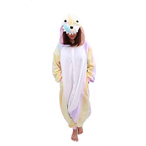 Animal Onesie Dinosaur Pajamas-Plush One Piece Costume (Large, Yellow -