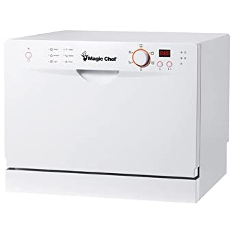 Countertop Dishwasher Clearance : ... Chef MCSCD6W3 6 Place Setting Countertop Dishwasher, White: Appliances