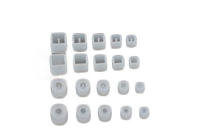 Yalulu 20Pcs 8-16mm Round Square DIY Earrings Necklace Bracelets Silicone Mold Jewelry Pendant Beads Resin Casting Mould for DIY Craft Making