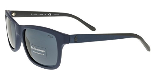 Polo Ralph Lauren Men's 0PH4095 Square Sunglasses, Matte Blue,Grey,Blue,Blue & Matte Grey, 57 - Ralph Lauren Sunglasses Polo