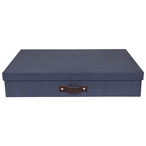 (Bigso Sverker Canvas Art Storage Box, Blue)