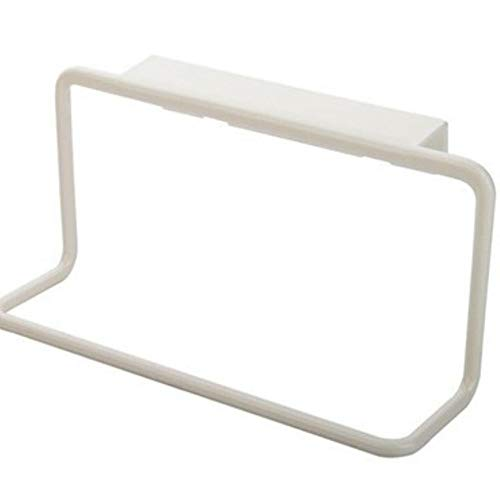 (MOPOLIS Over Cabinet Towel Rack Holder Kitchen Bathroom Door Hanger Shelf Organizer Tool (Color - White))