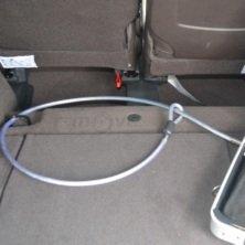 Koffer, tragbar, aus Aluminium, für Laptop, mit Sicherheitskabel