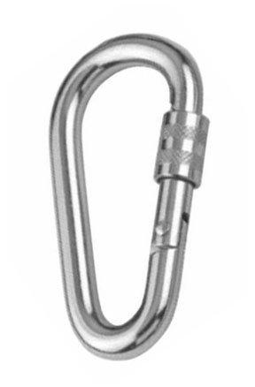 Mousqueton avec vis de s/écurit/é 6x60 A4 AISI 316