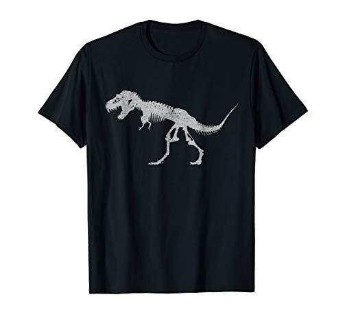 T-REX SKELETON T-SHIRT Tyrannosaurus Rex Dinosaur Bones Tee -