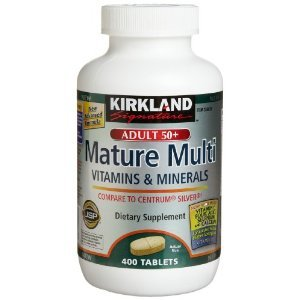 Kirkland Signature Mature Multi Vitamines et minéraux avec le lycopène et la lutéine comprimés de 400