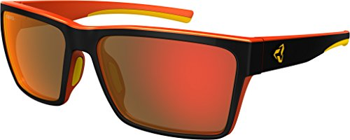 Ryders Eyewear Nelson Anti-Fog Sunglasses - 2-Tone (BLACK-ORANGE-YELLOW / GREY LENS RED SMR ANTI-FOG ) by Ryders