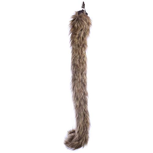 Wildlife Tree Plush Monkey Tail Clip-On Accessory for Monkey Costume, Cosplay, Pretend Animal Play or Safari Party -