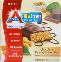 Atkins Advantage Bars, Chocolate Peanut Butter