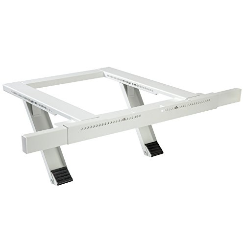 - Ivation Window Air Conditioner Mounting Support Bracket - Easy To Install Universal AC Mount, No Tools Required - Heavy Duty Steel Construction Holds Up To 200 lbs - Fits Single Or Double Hung Windows