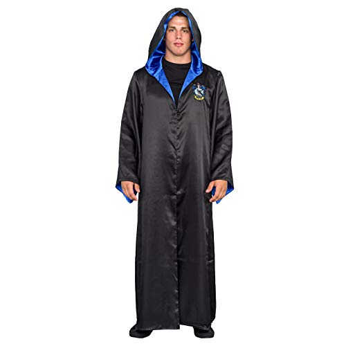 Underboss Harry Potter Ravenclaw Costume Black and Blue Long Robe with Hood (Adult 2X/3X) -