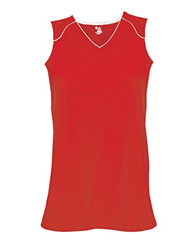 Red/White Ladies XL Performance Sports Wicking Jersey (Uniform Sleeveless Baseball)