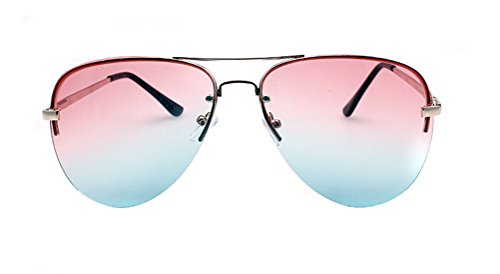 GAMT Classic Personality Aviator Oversized Sunglasses with Metal Frame for Men and Women Pink - Cheap Cazal Sunglasses