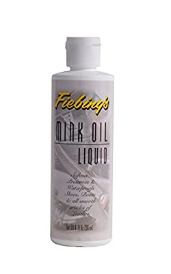 Fiebings Mink Oil Liquid, 8 Oz. - Soften, Preserves and Waterproofs Leather from Fiebing