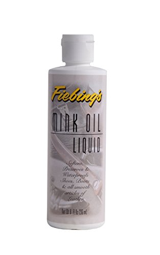 Fiebings Mink Oil Liquid, 8 Oz. - Soften, Preserves and Waterproofs (Boot Soap)