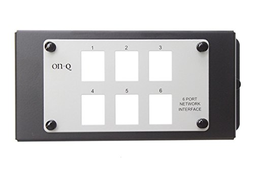 6 Port Patch Panel (On-Q Legrand AC1001 Un-Populated 6 Port Modular Network Interface Patch Panel)
