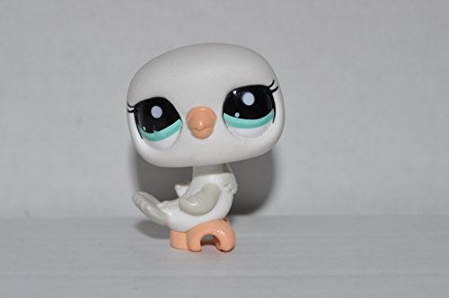 Pigeon (White, Green Eyes) Littlest Pet Shop (Retired) Collector Toy - LPS Collectible Replacement Figure - Loose (OOP Out of Package & Print)