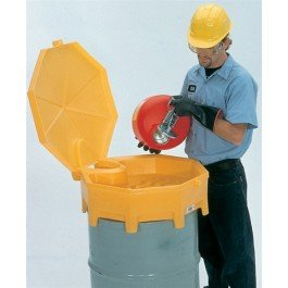 Global Drum Funnel, Hinged Cover and Spout for 30-55 gal ()