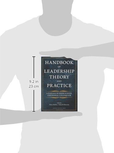 Handbook Of Leadership Theory And Practice Nitin Nohria Rakesh