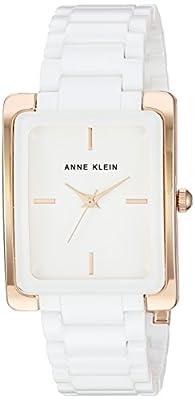 Anne Klein Women's AK/2952WTRG Rose Gold-Tone and White Ceramic Bracelet Watch