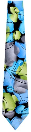 (JG-XL-6234 - Jerry Garcia Extra Long Silk XL Big and Tall Designer Necktie Ties)