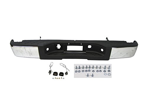 Bumper Silverado Rear Chevy - Rear Step Bumper Chrome W/O Hole 2007-2013 Chevy Silverado Gmc Sierra 1500 New
