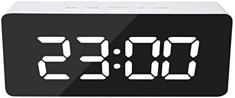 PTICA Espejo LED Reloj Despertador Reloj de Sobremesa Digital de ...