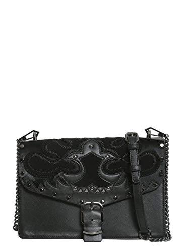Sac porté épaule pour femme Rebecca Minkoff Hf17gabx81001 en cuir noir