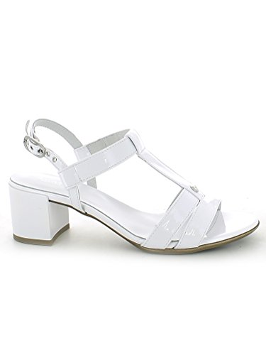 17610 BIANCO Scarpa donna sandalo tacco Nero Giardini pelle made in italy