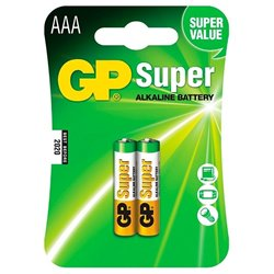 Replacement For 24A-C2 GP AAA SUPER ALKALINE BATTERY 2PK CARDED Battery by Technical Precision