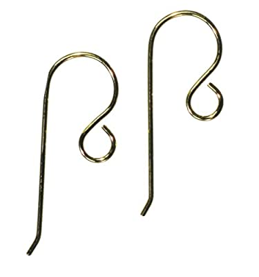 Earwire Gold Filled Fishhook Loop Earring Parts Small x-Pair by uGems