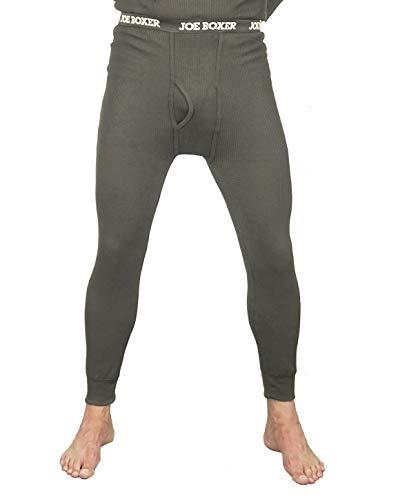 Underwear Joe Boxer (Joe Boxer Men's Thermal Pants - Long John Bottoms (Waffle Knit) - 2 Pack (Charcoal, 2X))
