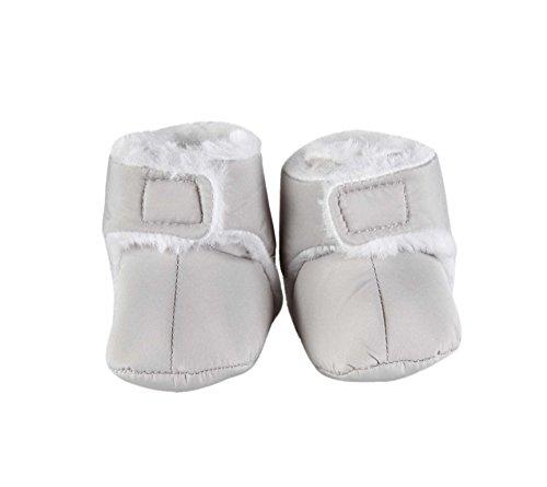 Invierno Velcro–Patucos para bebé, color gris gris Talla:6 to 12 Months